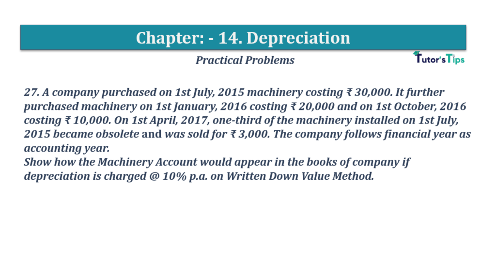 Question No 27 Chapter No 14