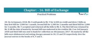 Question No.28 Chapter No.16 T.S. Grewal 1 Book 2019 Solution min min 360x202 - Chapter No. 16 - Accounting for Bills of Exchange - Solution