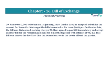 Question No.29 Chapter No.16 T.S. Grewal 1 Book 2019 Solution min min 360x202 - Chapter No. 16 - Accounting for Bills of Exchange - Solution