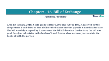 Question No.3 Chapter No.16 T.S. Grewal 1 Book 2019 Solution min min 360x202 - Chapter No. 16 - Accounting for Bills of Exchange - Solution