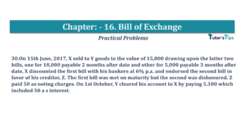 Question No.30 Chapter No.16 T.S. Grewal 1 Book 2019 Solution min min 360x202 - Chapter No. 16 - Accounting for Bills of Exchange - Solution