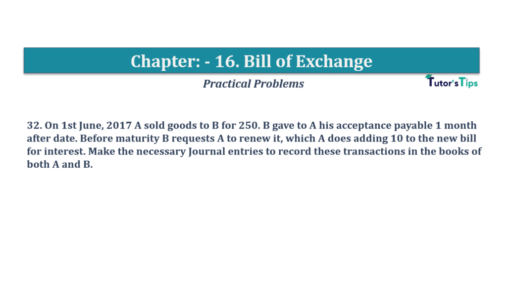 Question No 32 Chapter No 16