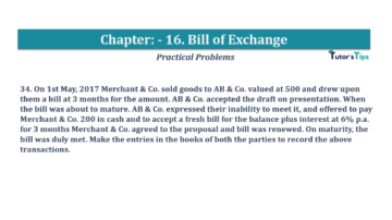 Question No.34 Chapter No.16 T.S. Grewal 1 Book 2019 Solution min min 360x202 - Chapter No. 16 - Accounting for Bills of Exchange - Solution