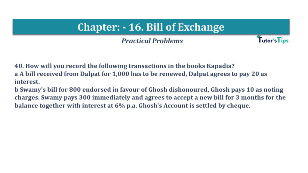 Question No 40 Chapter No 16