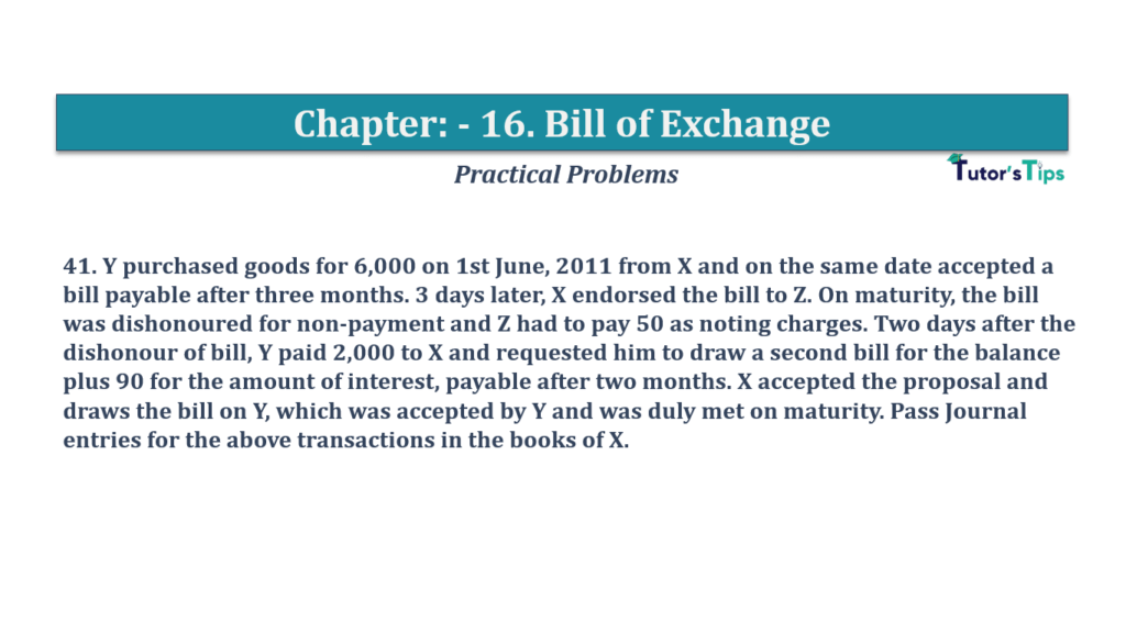 Question No 41 Chapter No 16