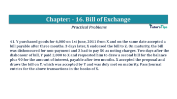 Question No.41 Chapter No.16 T.S. Grewal 1 Book 2019 Solution min min 360x202 - Chapter No. 16 - Accounting for Bills of Exchange - Solution