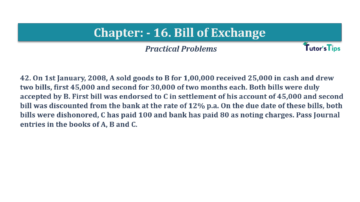 Question No.42 Chapter No.16 T.S. Grewal 1 Book 2019 Solution min min 360x202 - Chapter No. 16 - Accounting for Bills of Exchange - Solution