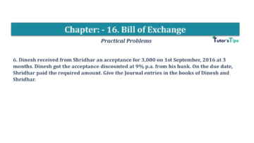 Question No.6 Chapter No.16 T.S. Grewal 1 Book 2019 Solution min min 360x202 - Chapter No. 16 - Accounting for Bills of Exchange - Solution