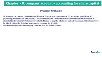 Question No.70 Chapter No.8 T.S. Grewal 2 Book 2019 Solution min min min 360x202 - Chapter No. 8 - Company Accounts - Accounting for Share Capital