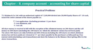 Question No.72 Chapter No.8 T.S. Grewal 2 Book 2019 Solution min min min 360x202 - Chapter No. 8 - Company Accounts - Accounting for Share Capital