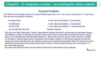 Question No.74 Chapter No.8 T.S. Grewal 2 Book 2019 Solution min min 360x202 - Chapter No. 8 - Company Accounts - Accounting for Share Capital