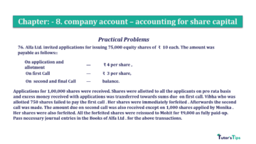 Question No.76 Chapter No.8 T.S. Grewal 2 Book 2019 Solution min min 360x202 - Chapter No. 8 - Company Accounts - Accounting for Share Capital