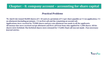 Question No.78 Chapter No.8 T.S. Grewal 2 Book 2019 Solution min min 360x202 - Chapter No. 8 - Company Accounts - Accounting for Share Capital