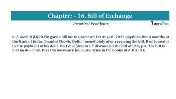 Question No.8 Chapter No.16 T.S. Grewal 1 Book 2019 Solution min min 360x202 - Chapter No. 16 - Accounting for Bills of Exchange - Solution