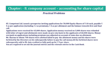 Question No.85 Chapter No.8 T.S. Grewal 2 Book 2019 Solution min min 360x202 - Chapter No. 8 - Company Accounts - Accounting for Share Capital