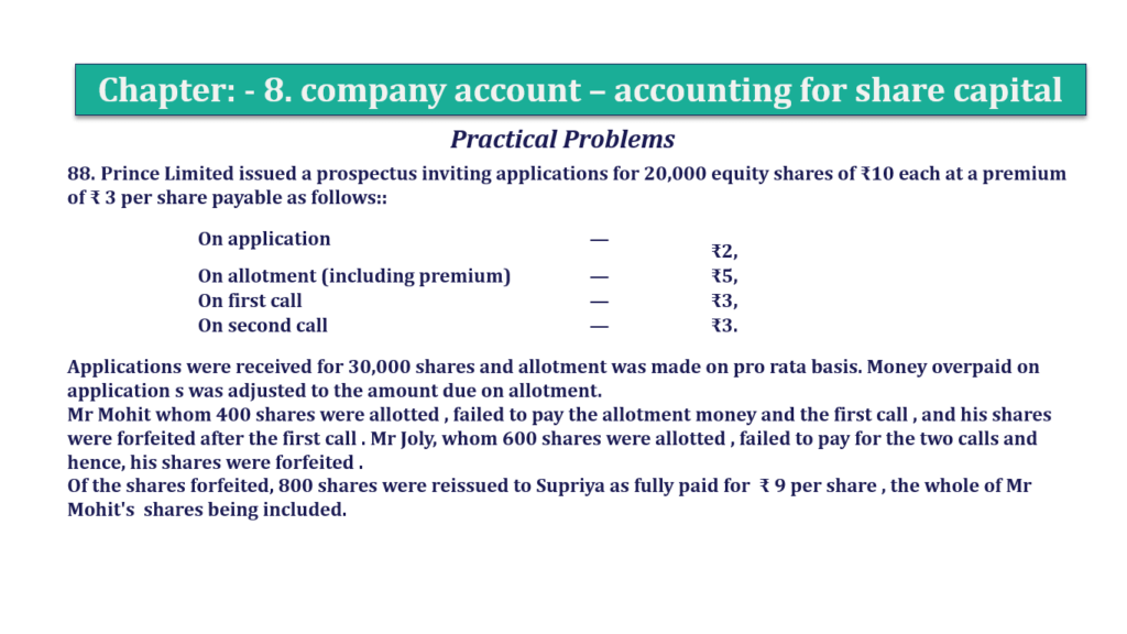 Question 88 Chapter 8 of +2-A