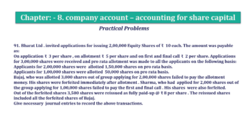 Question No.91 Chapter No.8 T.S. Grewal 2 Book 2019 Solution min min 1 360x202 - Chapter No. 8 - Company Accounts - Accounting for Share Capital