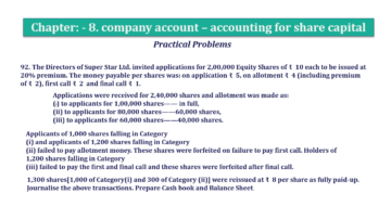 Question No.92 Chapter No.8 T.S. Grewal 2 Book 2019 Solution min min 360x202 - Chapter No. 8 - Company Accounts - Accounting for Share Capital