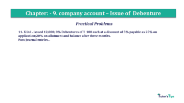 Question No11 Chapter No.9 T.S. Grewal 2 Book 2019 Solution min min 360x202 - Chapter No. 9 - Issue of Debentures - Solution - Class 12