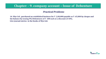 Question No14 Chapter No.9 T.S. Grewal 2 Book 2019 Solution min min 360x202 - Chapter No. 9 - Issue of Debentures - Solution - Class 12