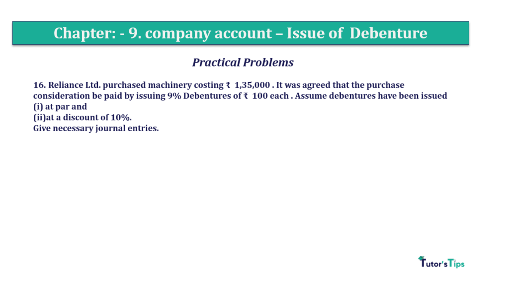 Question 16 Chapter 9 of +2-A