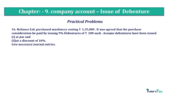 Question No16 Chapter No.9 T.S. Grewal 2 Book 2019 Solution min min 360x202 - Chapter No. 9 - Issue of Debentures - Solution - Class 12