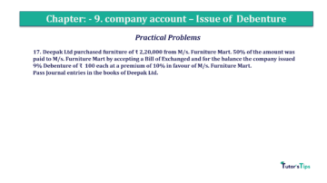 Question No17 Chapter No.9 T.S. Grewal 2 Book 2019 Solution min min 360x202 - Chapter No. 9 - Issue of Debentures - Solution - Class 12