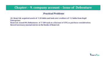 Question No20 Chapter No.9 T.S. Grewal 2 Book 2019 Solution min min 360x202 - Chapter No. 9 - Issue of Debentures - Solution - Class 12