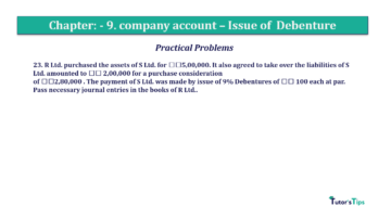 Question No23 Chapter No.9 T.S. Grewal 2 Book 2019 Solution min min 360x202 - Chapter No. 9 - Issue of Debentures - Solution - Class 12