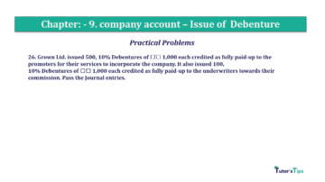 Question No26 Chapter No.9 T.S. Grewal 2 Book 2019 Solution min min 360x202 - Chapter No. 9 - Issue of Debentures - Solution - Class 12