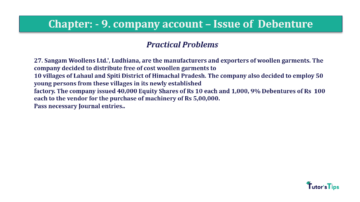 Question No27 Chapter No.9 T.S. Grewal 2 Book 2019 Solution min min 360x202 - Chapter No. 9 - Issue of Debentures - Solution - Class 12