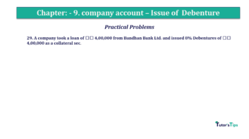Question No29 Chapter No.9 T.S. Grewal 2 Book 2019 Solution min min 360x202 - Chapter No. 9 - Issue of Debentures - Solution - Class 12