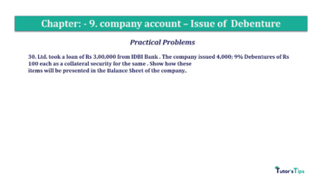 Question No30 Chapter No.9 T.S. Grewal 2 Book 2019 Solution min min 360x202 - Chapter No. 9 - Issue of Debentures - Solution - Class 12