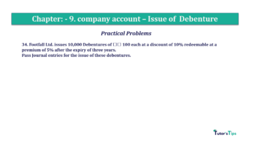 Question No34 Chapter No.9 T.S. Grewal 2 Book 2019 Solution min min 360x202 - Chapter No. 9 - Issue of Debentures - Solution - Class 12