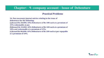 Question No36 Chapter No.9 T.S. Grewal 2 Book 2019 Solution min min 360x202 - Chapter No. 9 - Issue of Debentures - Solution - Class 12