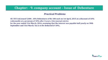 Question No40 Chapter No.9 T.S. Grewal 2 Book 2019 Solution min min 360x202 - Chapter No. 9 - Issue of Debentures - Solution - Class 12