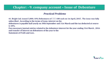 Question No41 Chapter No.9 T.S. Grewal 2 Book 2019 Solution min min 360x202 - Chapter No. 9 - Issue of Debentures - Solution - Class 12