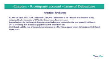 Question No42 Chapter No.9 T.S. Grewal 2 Book 2019 Solution min min 360x202 - Chapter No. 9 - Issue of Debentures - Solution - Class 12