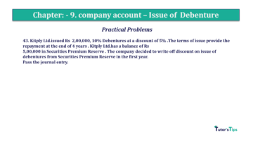 Question No43 Chapter No.9 T.S. Grewal 2 Book 2019 Solution min min 360x202 - Chapter No. 9 - Issue of Debentures - Solution - Class 12