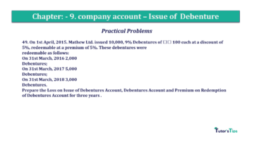 Question No49 Chapter No.9 T.S. Grewal 2 Book 2019 Solution min min 360x202 - Chapter No. 9 - Issue of Debentures - Solution - Class 12