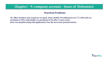 Question No50 Chapter No.9 T.S. Grewal 2 Book 2019 Solution min min 360x202 - Chapter No. 9 - Issue of Debentures - Solution - Class 12