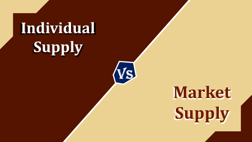 Difference between Individual Supply and Market Supply