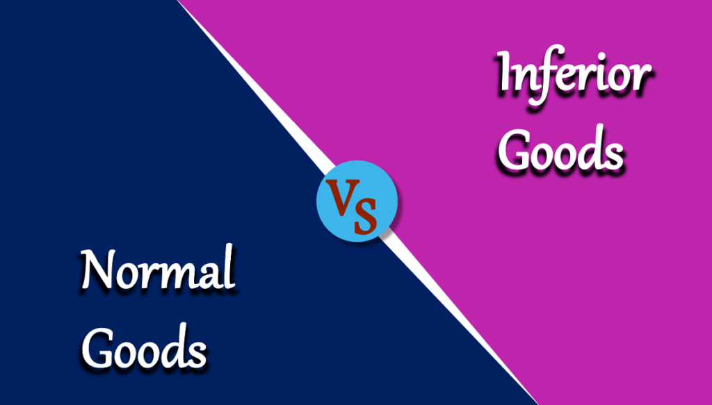 Difference between Normal Goods and Inferior Goods