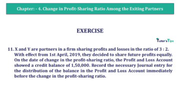 Q 11 CH 4 T.S. Grewal 2 Book 2019 Solution min 360x203 - Chapter No. 4 – Change in Profit-Sharing Ratio Among the Existing Partners - Solution