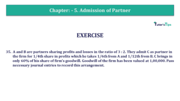Q 35 CH 5 T.S. Grewal 2 Book 2019 Solution min 360x203 - Chapter No. 5 - Admission of a Partner - Solution - Class 12