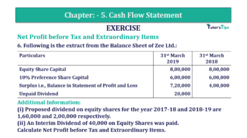 Question No. 06 Chapter No.5 T.S. Grewal 2 Book Part B min 360x202 - Chapter No. 5 - Cash Flow Statement - Solution - Class 12