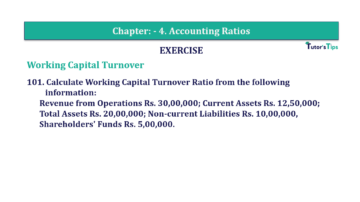 Question No. 101 Chapter No.4 T.S. Grewal 2 Book Part B min 360x202 - Chapter No. 4 - Accounting Ratios - Solution - Class 12