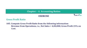 Question No. 105 Chapter No.4 T.S. Grewal 2 Book Part B min 360x202 - Chapter No. 4 - Accounting Ratios - Solution - Class 12