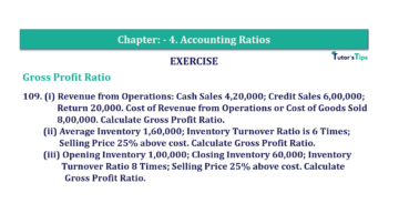 Question No. 109 Chapter No.4 T.S. Grewal 2 Book Part B min 360x202 - Chapter No. 4 - Accounting Ratios - Solution - Class 12