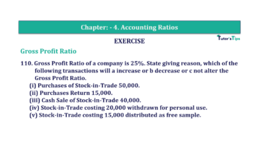 Question No. 110 Chapter No.4 T.S. Grewal 2 Book Part B min 360x202 - Chapter No. 4 - Accounting Ratios - Solution - Class 12